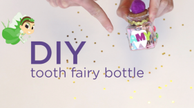 Have your child make their own tooth holder for their next visit from the Tooth Fairy
